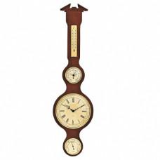 Барометр погодный настенный сувенирный с термогигрометром и часами Moller 204983 (Германия)