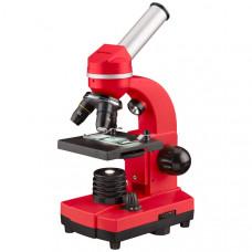 Микроскоп обучающий биологический для студентов Bresser Biolux SEL 40x-1600x Red (смартфон-адаптер) (Германия)