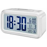 Термометр-гигрометр Bresser Mytime Duo White - часы, внутр. темпер. и влажн., будильник, календарь, подсветка