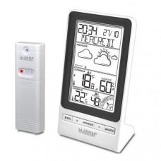 Метеостанция настольная, внешний датчик (т-ра, влажность, прогноз,часы) La Crosse WS6819 White Black (Франция)