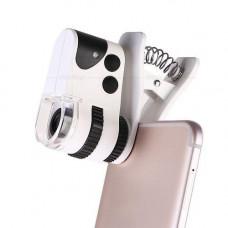 Микроскоп SIGETA MicroClip 45x для смартфона портативный компактный карманный подсветка