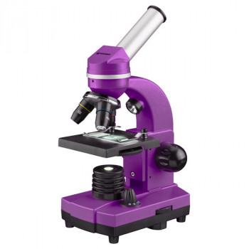 Микроскоп обучающий биологический для студентов Bresser Biolux SEL40x-1600x Purple смартфон-адаптер (Германия)