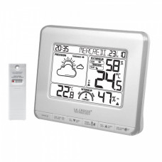 Метеостанция (т-ра, влажность дома на улице, прогноз, часы) La Crosse WS6818 White/Silver (Франция)