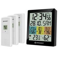 Термометр-гигрометр Bresser Temeo Hygro Quadro DLX Black - внут. и внеш. температ. и влажность, датчика 3 шт.