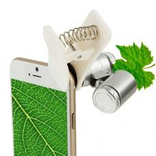 Микроскоп KONUS KONUSCLIP-2 20x для смартфона портативный компактный карманный подсветка