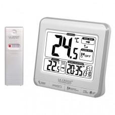 Метеостанция (т-ра на улице и дома, часы, будильник) La Crosse WS6811-White/Silver (Франция)