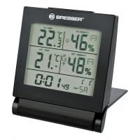 Термометр-гигрометр Bresser MyTime Travel - часы, внутр/внеш. темпер. и влажн., будильник, подсветка, вн. датч