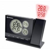 Проекционные часы Bresser BF-PRO black - прогноз погоды, температура, календарь, подсветка, внешний датчик