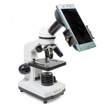 Микроскоп для начинающих Optima Explorer 40x-400x + смартфон-адаптер (Украина)
