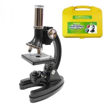 Микроскоп школьный биологический Optima Beginner 300x-1200x Set (Украина)