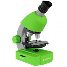 Микроскоп обучающий для ребенка детей Bresser Junior 40x-640x Green (Германия)