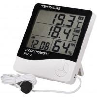 """Термометр-гігрометр з зовнішнім датчиком температури """"HTC-2"""""""