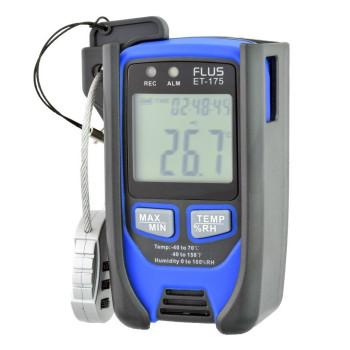 Термогігрометр логгер температури вологості Flus ET-175