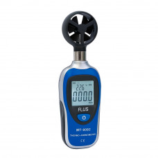 Міні анемометр з термометром Flus MT-905C (0,4 ... 30 м/с) вимірювач швидкості вітру
