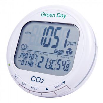 Детектор углекислого газа + термогигрометр + реле  AZ-7788