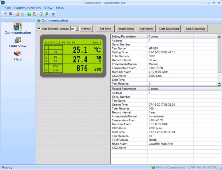HT-501 - газоанализатор - сигнализатор CO2 - гигрометр-термометр