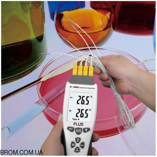 Термометр з термопарою К-типу/J-типу ET-960D - 2