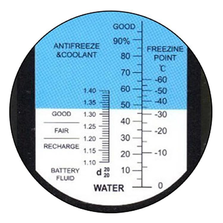 """Рефрактометр для автомобілю (0...100% Water, 1,10...1,40 d20/20, 0...-60°C) """"HT415ATC"""" - 4"""