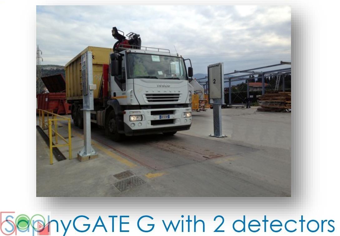 SaphyGATE G стационарная система радиационного и радиометрического контроля автомобильного и железнодорожного транспорта, отходов (Портальный Радиационный Монитор) - 3