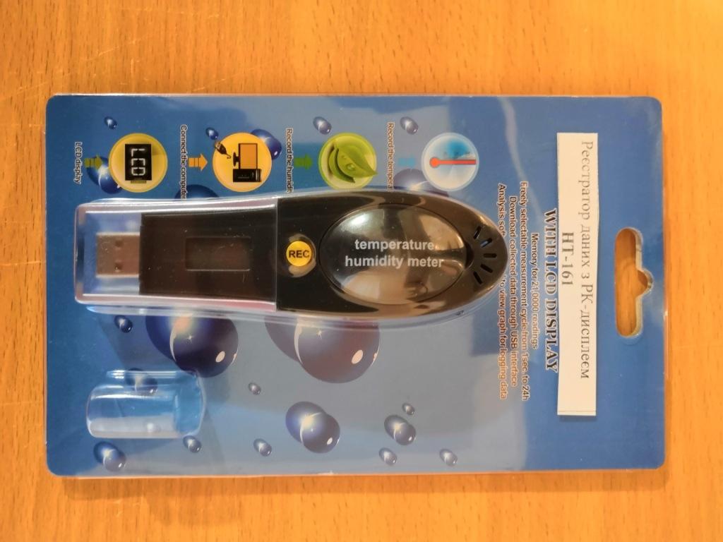USB даталоггер - реєстратор температури і вологості HT-161 Xintest - 1