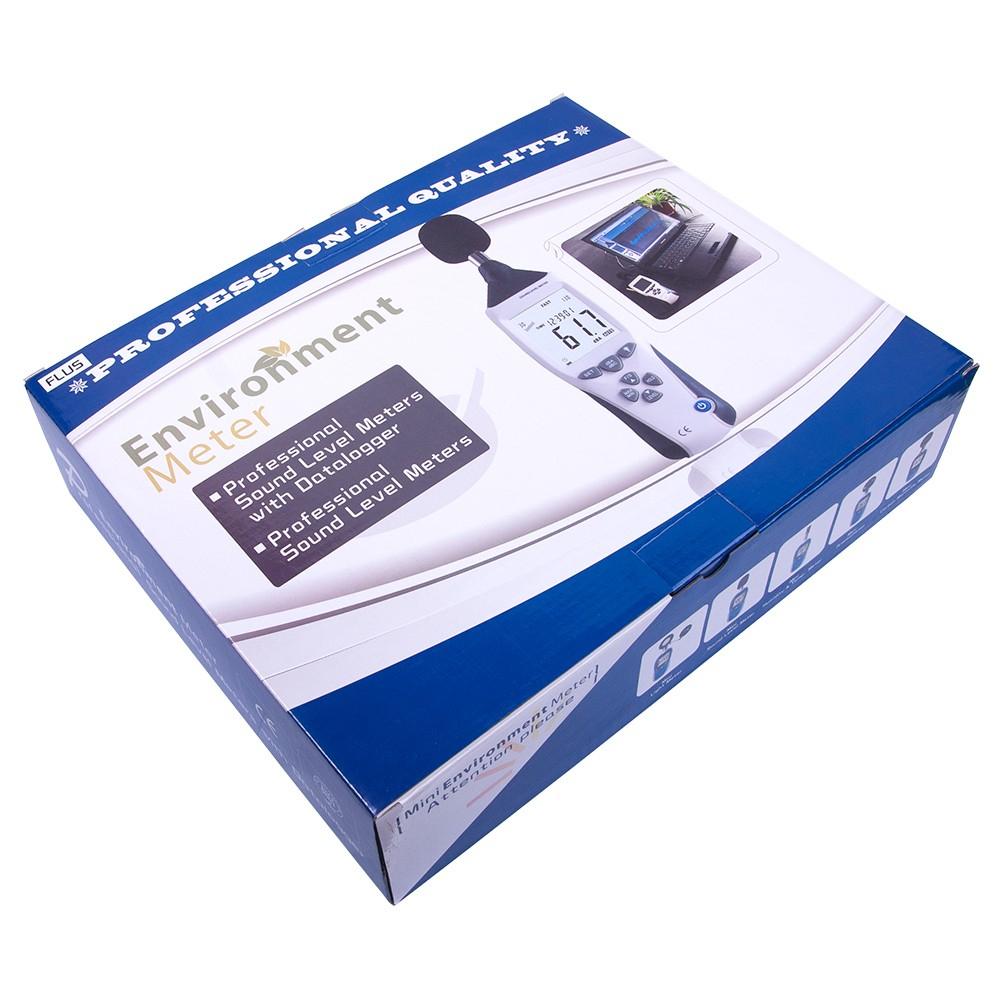 """Шумомер с USB Flus """"ET-956"""" (dBA, dBC, 30...130 дБ, ±1.4 дБ, 32...8000 Гц) - 6"""