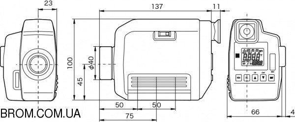 Инфракрасный термометр - пирометр OPTEX VF3000 (+400...+3000) - 3