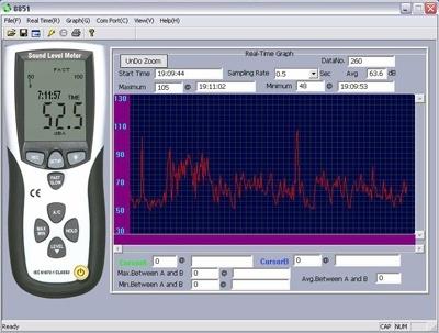 Шумомір DT-8852 USB + Програмне забезпечення - 2