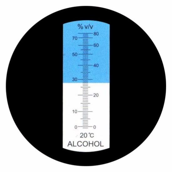 """Рефрактометр для спиртных напитков (0-80% Vol) """"HT511ATC"""" - 4"""