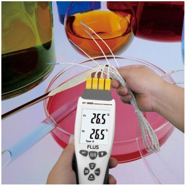 Термометр с термопарой К-типа/J-типа ET-959D - 2