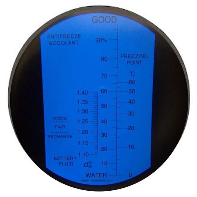 """Рефрактометр для автомобілю (0...100% Water, 1,10...1,40 d20/20, 0...-60°C) """"HT415ATC"""" - 2"""