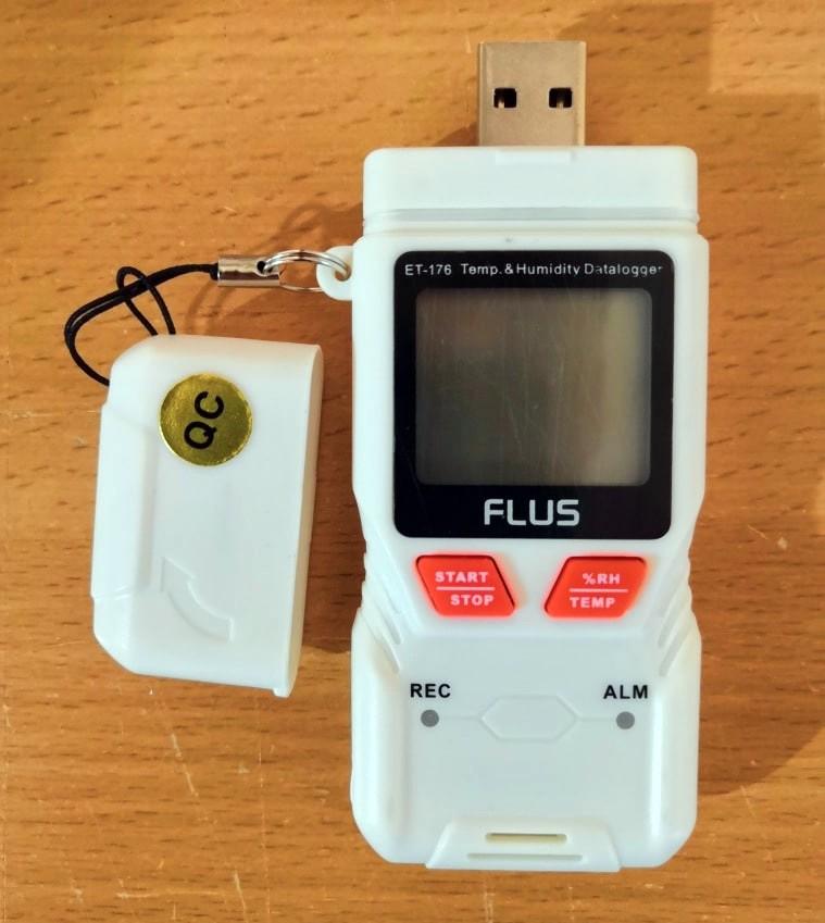 """Даталоггер - регистратор температуры и влажности Flus """"ET-176"""" - 1"""