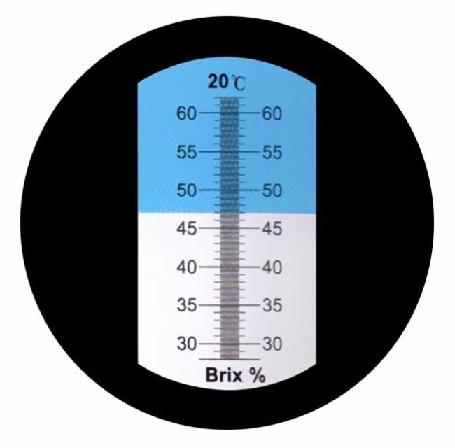 """Рефрактометр для цукру (28 ... 62% Brix) """"HT114ATC"""" - 4"""