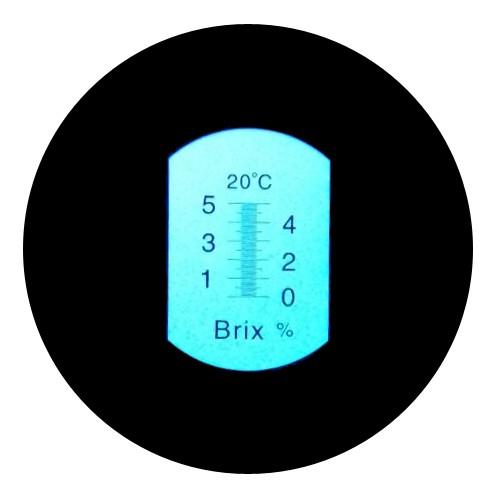 """Рефрактометр для сахара (0…5% Brix) """"HT110ATC"""" - 2"""