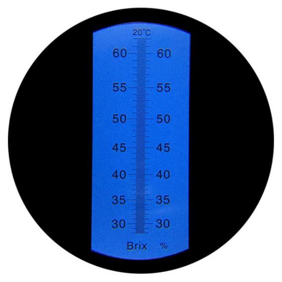 """Рефрактометр для сахара (28 ... 62% Brix) """"HT114ATC"""" - 2"""