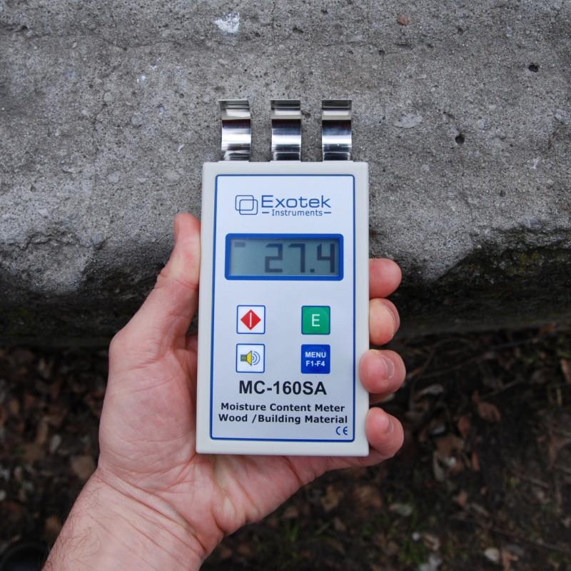 Професійний НВЧ вологомір деревини та будматеріалів EXOTEK MC-160SA - 4