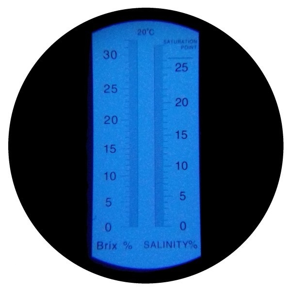 "Рефрактометр для соли и сахара (0...28% Salt, 0...32% Brix) ""HT214ATC"" - 2"