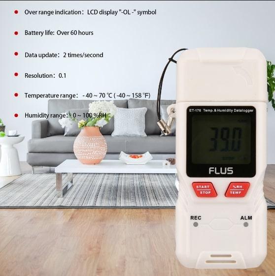 """Даталоггер - регистратор температуры и влажности Flus """"ET-176"""" - 4"""