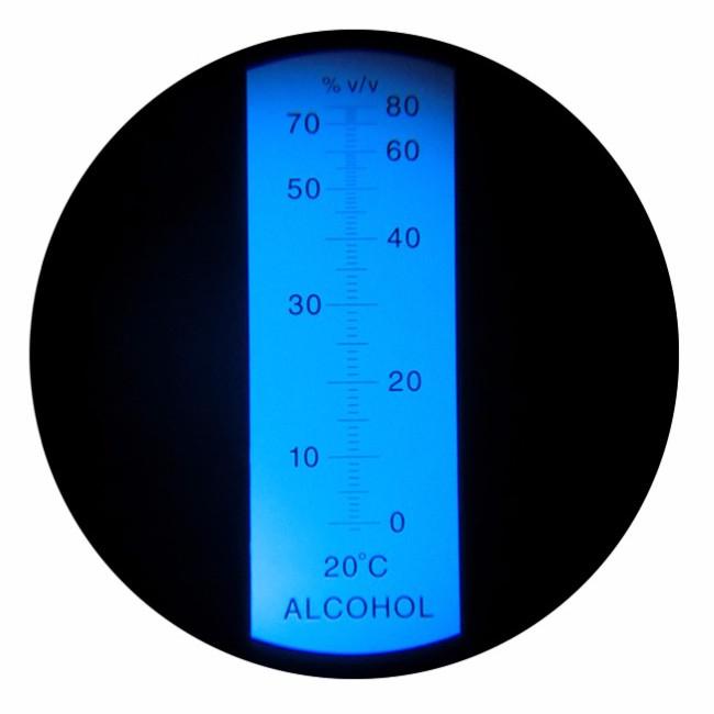 """Рефрактометр для спиртных напитков (0-80% Vol) """"HT511ATC"""" - 2"""