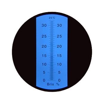 "Рефрактометр для сахара, СОЖ (0...32% Brix) ""HT113ATC"" - 2"