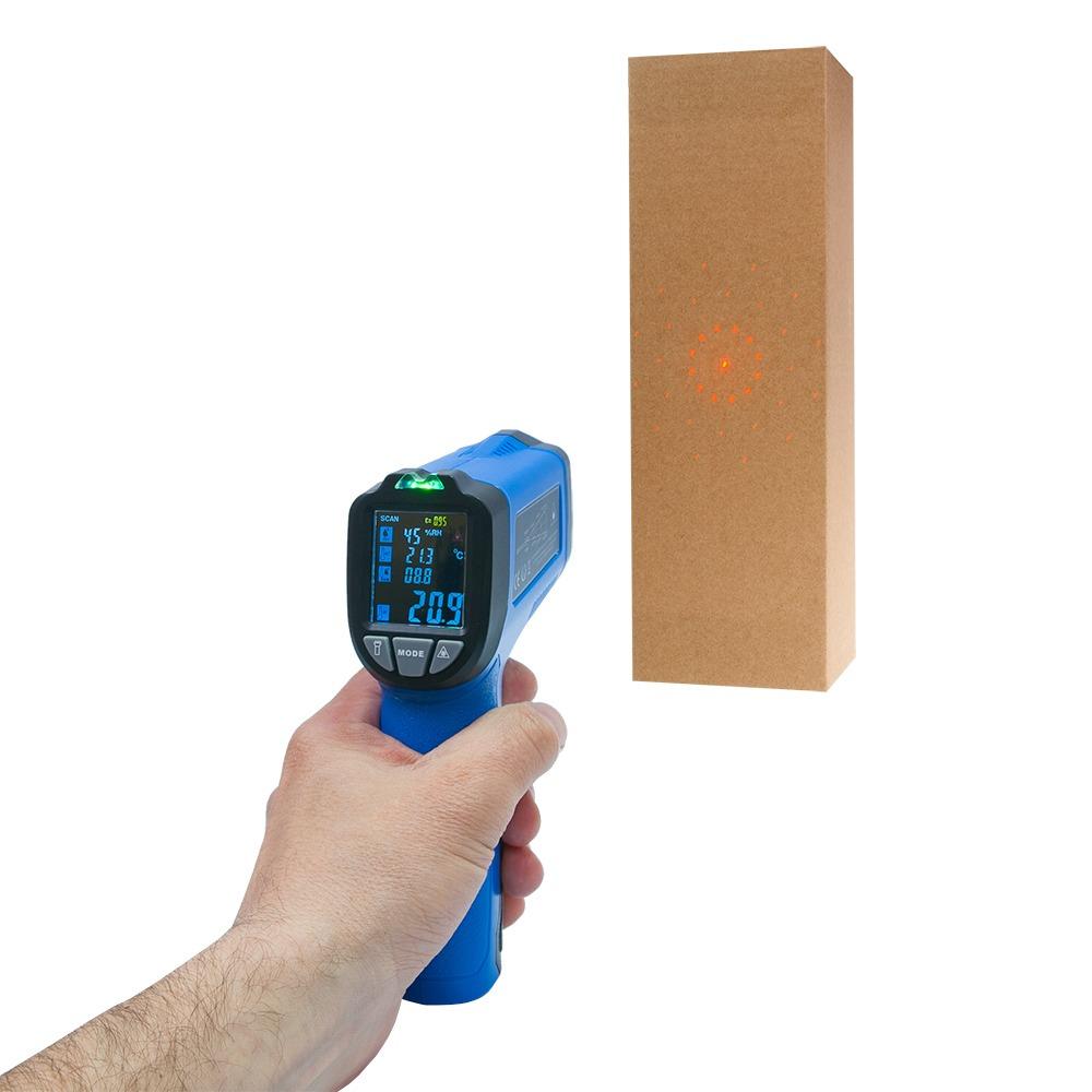 Пірометр - термогігрометр FLUS IR-818 (-50...+ 750) з термопарою і кольоровим дисплеєм - 3