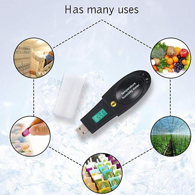 USB даталоггер - реєстратор температури і вологості HT-161 Xintest - 12