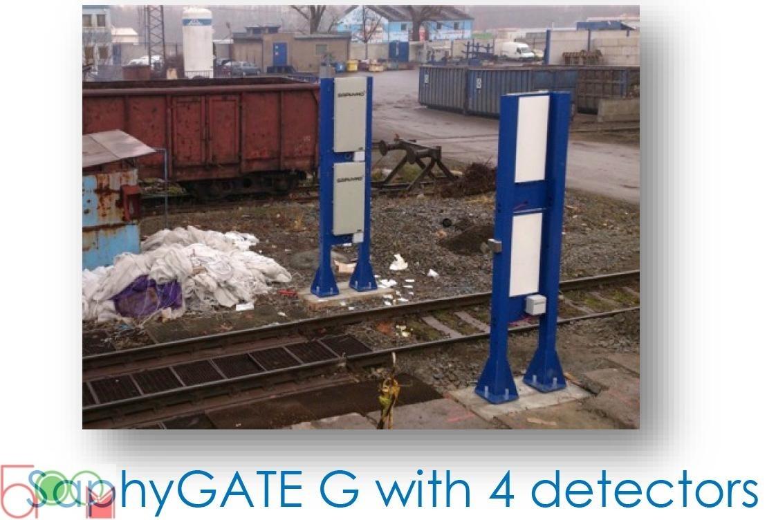 SaphyGATE G стационарная система радиационного и радиометрического контроля автомобильного и железнодорожного транспорта, отходов (Портальный Радиационный Монитор) - 1