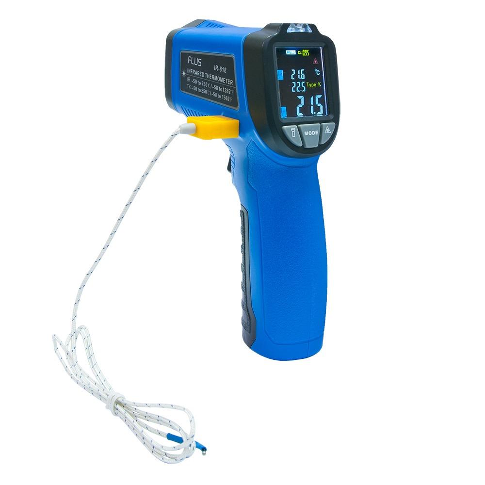 Пірометр - термогігрометр FLUS IR-818 (-50...+ 750) з термопарою і кольоровим дисплеєм - 2