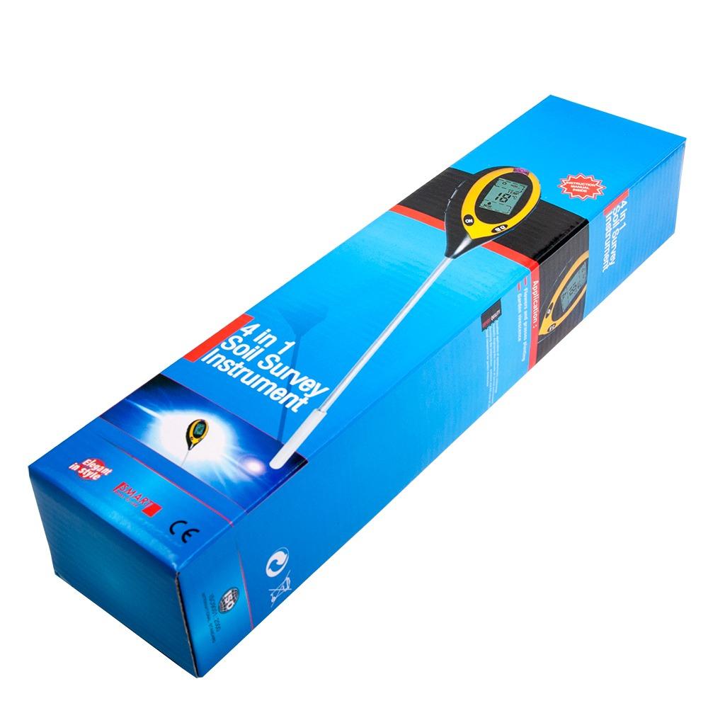 pH-метр/вологомір/термометр/люксметр для грунту AMT-300 - 5