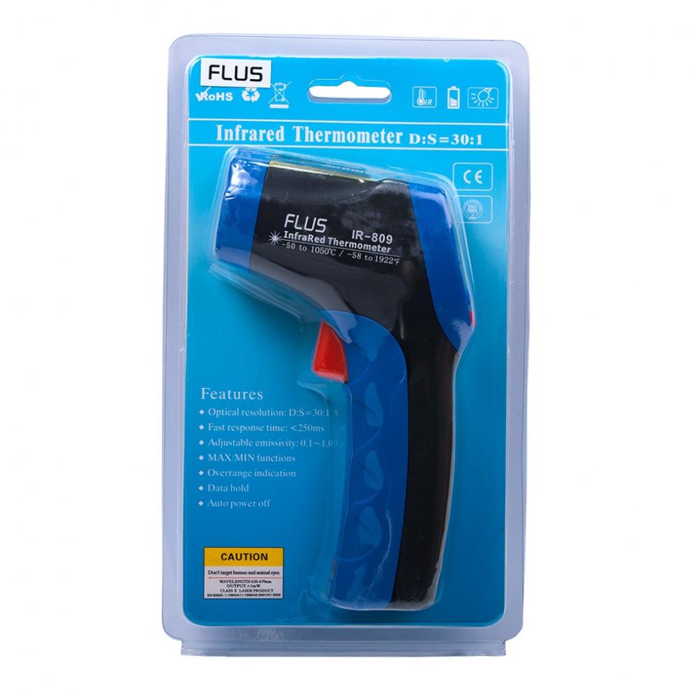 Інфрачервоний термометр - пірометр Flus IR-809 (-50...+1050) - 3