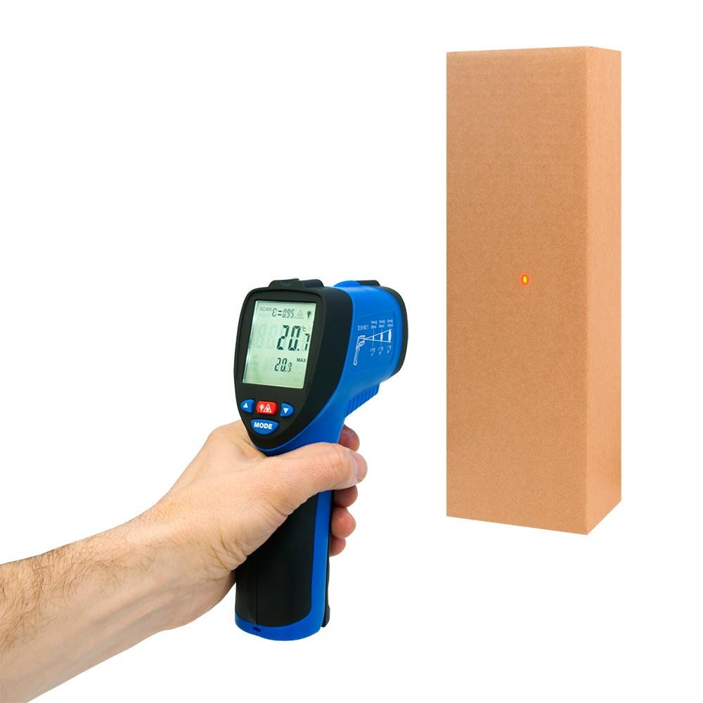 Инфракрасный термометр - пирометр FLUS IR-866 (-50…+2250) - 3