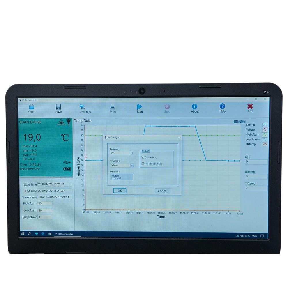 Инфракрасный термометр - пирометр FLUS IR-867 (-50…+1180) - 5