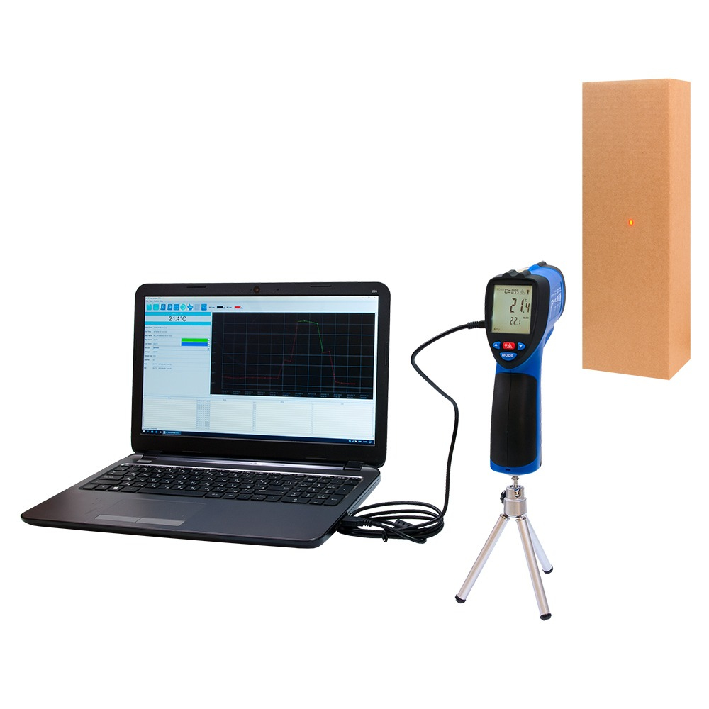 Пирометр FLUS IR-862U (-50…+1350) - USB регистратор температуры - 2