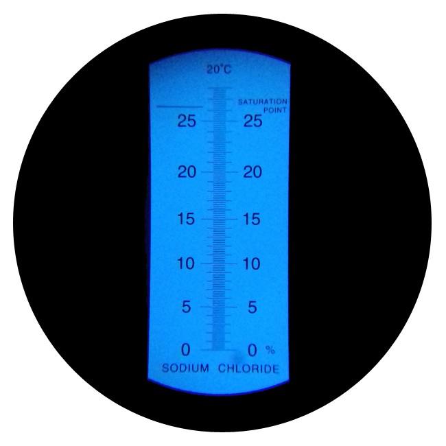 """Рефрактометр для повареної солі NaCl (0 ... 28% Salt) """"HT212ATC"""" - 2"""