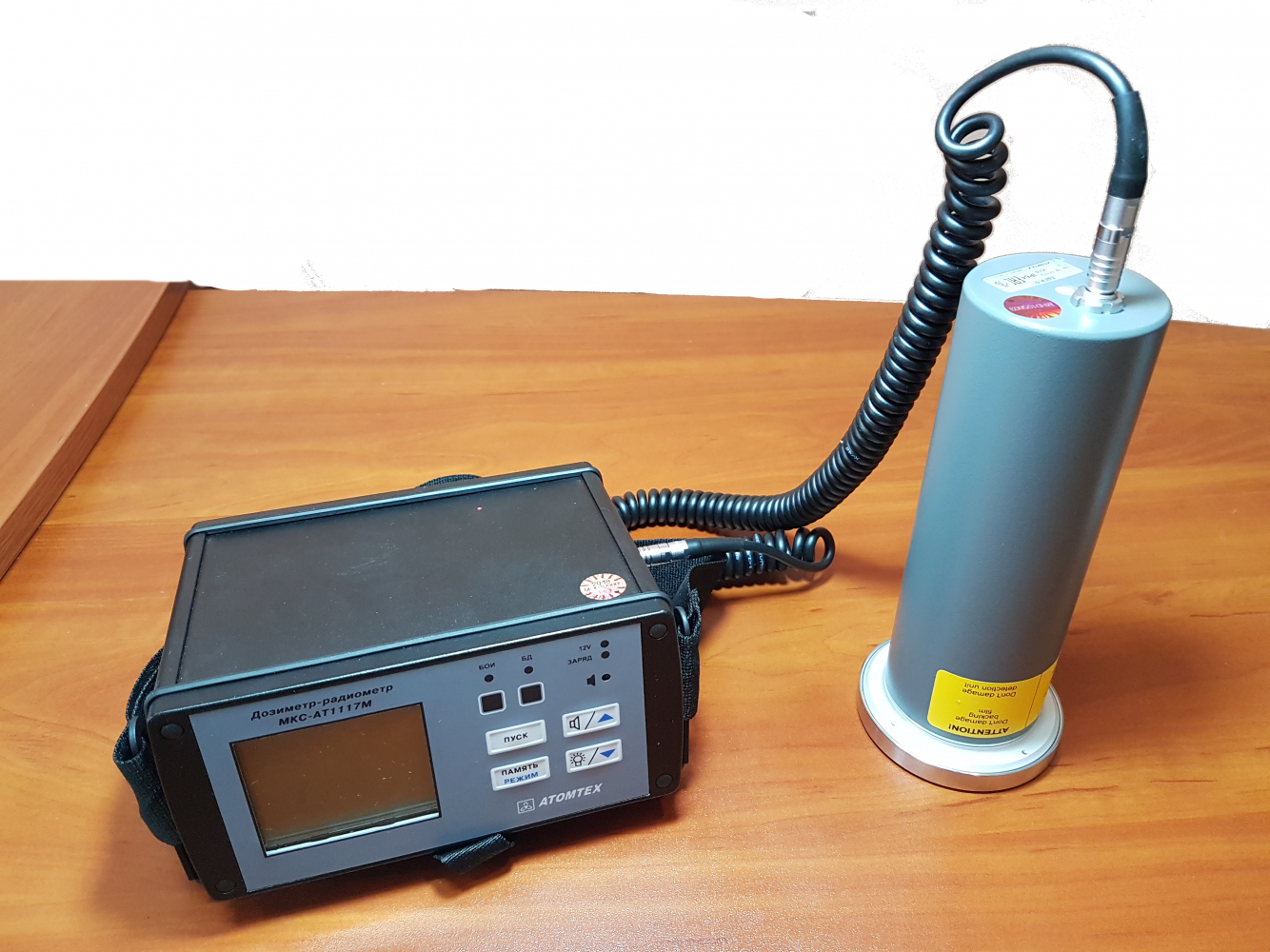Дозиметр радиометр МКС-АТ1117М с внешним блоком детектирования альфа излучения БДПА-01 - 4